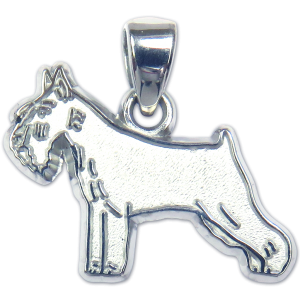 Standard Schnauzer Charm or Pendant in Sterling or 14K Gold