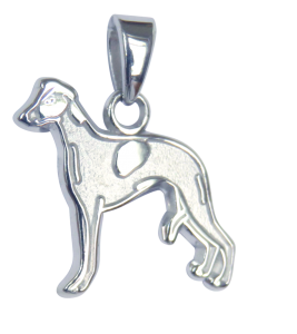 Whippet Charm or Pendant in Sterling or 14K Gold