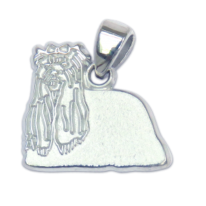 Yorkshire Terrier - Yorkie - Charm or Pendant in Sterling or 14K Gold