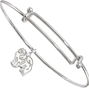 Sterling Silver Chow Chow Charm on Bangle Bracelet