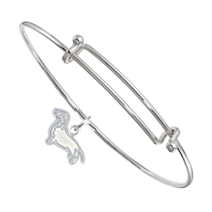 Sterling Silver Dachshund Charm on Bangle Bracelet