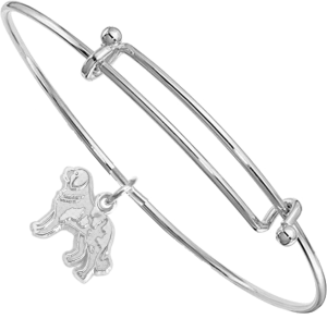 Sterling Silver Saint Bernard Charm on Bangle Bracelet