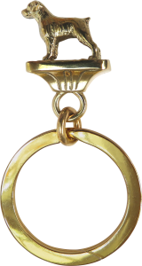 Solid Bronze Brittany Key Ring