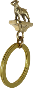 Solid Bronze Brittany Key Ring - Front View