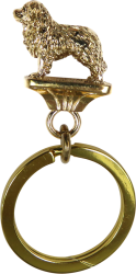 Solid Bronze Great Pyrenees Key Ring