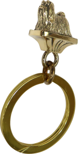 Solid Bronze Maltese Key Ring - Front