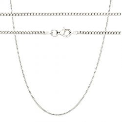 Solid Sterling Rounded Box Chain