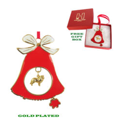 SHETLAND SHEEPDOG SHELTIE Gold Plated Christmas Holiday BELL Ornament