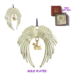 COCKER SPANIEL Gold Plated ANGEL WING Memorial Christmas Holiday Ornament